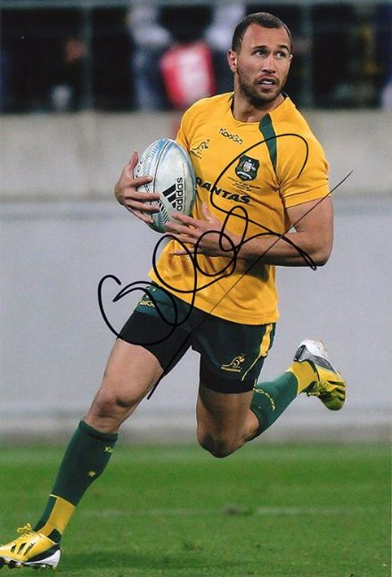 Quade Cooper, Australia, signed 12x8 inch photo.